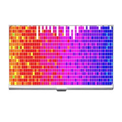 Square Spectrum Abstract Business Card Holders