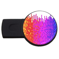 Square Spectrum Abstract USB Flash Drive Round (1 GB)