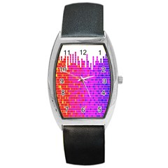 Square Spectrum Abstract Barrel Style Metal Watch
