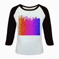 Square Spectrum Abstract Kids Baseball Jerseys