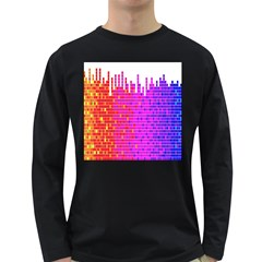 Square Spectrum Abstract Long Sleeve Dark T Shirts