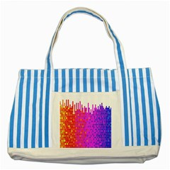 Square Spectrum Abstract Striped Blue Tote Bag