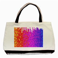 Square Spectrum Abstract Basic Tote Bag (Two Sides)