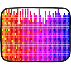 Square Spectrum Abstract Fleece Blanket (mini)