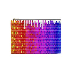 Square Spectrum Abstract Cosmetic Bag (medium)