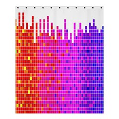 Square Spectrum Abstract Shower Curtain 60  X 72  (medium)