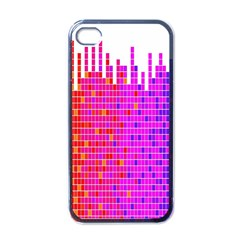 Square Spectrum Abstract Apple iPhone 4 Case (Black)