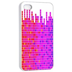 Square Spectrum Abstract Apple iPhone 4/4s Seamless Case (White)