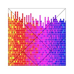 Square Spectrum Abstract Acrylic Tangram Puzzle (6  x 6 )