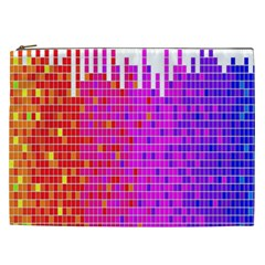 Square Spectrum Abstract Cosmetic Bag (xxl)