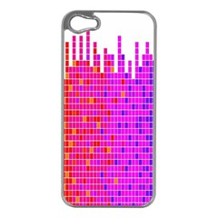 Square Spectrum Abstract Apple iPhone 5 Case (Silver)