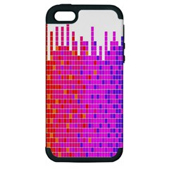 Square Spectrum Abstract Apple iPhone 5 Hardshell Case (PC+Silicone)