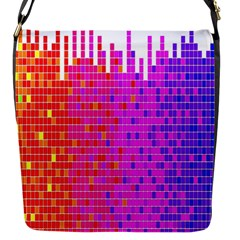 Square Spectrum Abstract Flap Messenger Bag (S)