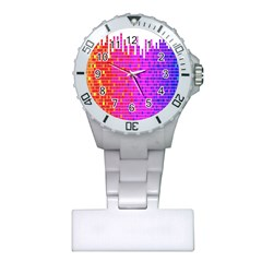Square Spectrum Abstract Plastic Nurses Watch