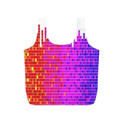 Square Spectrum Abstract Full Print Recycle Bags (S)