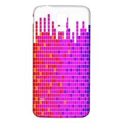 Square Spectrum Abstract Samsung Galaxy S5 Back Case (White)
