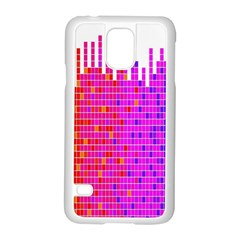 Square Spectrum Abstract Samsung Galaxy S5 Case (White)
