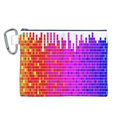 Square Spectrum Abstract Canvas Cosmetic Bag (l)