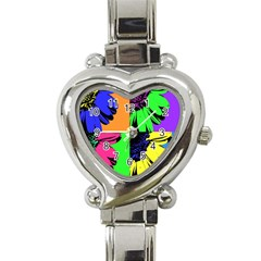 Flower Pop Sunflower Heart Italian Charm Watch