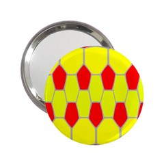 Football Blender Image Map Red Yellow Sport 2 25  Handbag Mirrors