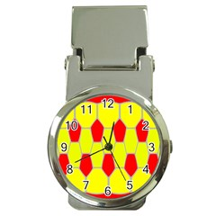 Football Blender Image Map Red Yellow Sport Money Clip Watches
