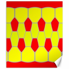 Football Blender Image Map Red Yellow Sport Canvas 20  X 24