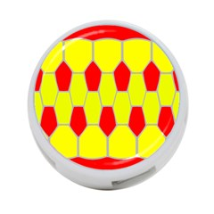 Football Blender Image Map Red Yellow Sport 4 Port Usb Hub (two Sides)