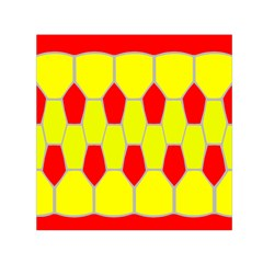 Football Blender Image Map Red Yellow Sport Small Satin Scarf (square)