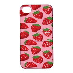 Fruit Strawbery Red Sweet Fres Apple Iphone 4/4s Hardshell Case With Stand