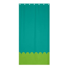 Green Blue Teal Scallop Wallpaper Wave Shower Curtain 36  X 72  (stall)