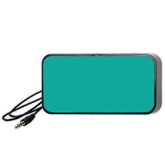 Green Blue Teal Scallop Wallpaper Wave Portable Speaker (black)