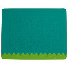 Green Blue Teal Scallop Wallpaper Wave Jigsaw Puzzle Photo Stand (rectangular)
