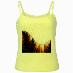 Abstract Lines Yellow Spaghetti Tank