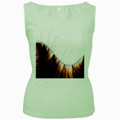 Abstract Lines Women s Green Tank Top
