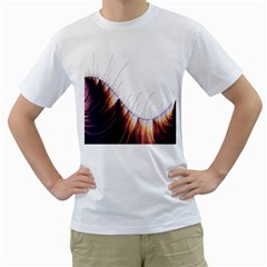 Abstract Lines Men s T-Shirt (White) (Two Sided)