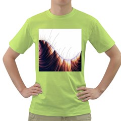 Abstract Lines Green T Shirt