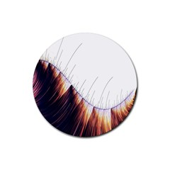 Abstract Lines Rubber Round Coaster (4 pack)