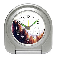 Abstract Lines Travel Alarm Clocks