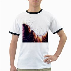 Abstract Lines Ringer T Shirts