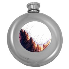Abstract Lines Round Hip Flask (5 Oz)