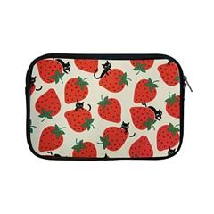 Fruit Strawberry Red Black Cat Apple Ipad Mini Zipper Cases