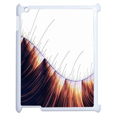 Abstract Lines Apple iPad 2 Case (White)