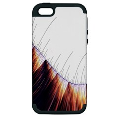 Abstract Lines Apple iPhone 5 Hardshell Case (PC+Silicone)
