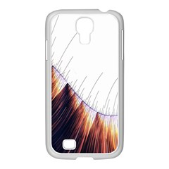 Abstract Lines Samsung GALAXY S4 I9500/ I9505 Case (White)
