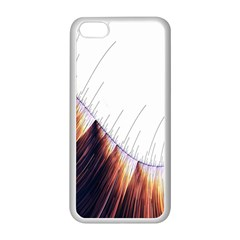 Abstract Lines Apple iPhone 5C Seamless Case (White)