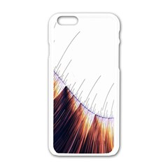 Abstract Lines Apple iPhone 6/6S White Enamel Case