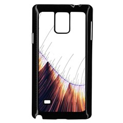Abstract Lines Samsung Galaxy Note 4 Case (Black)