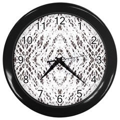 Pattern Monochrome Terrazzo Wall Clocks (Black)