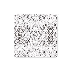 Pattern Monochrome Terrazzo Square Magnet