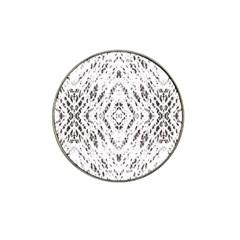Pattern Monochrome Terrazzo Hat Clip Ball Marker